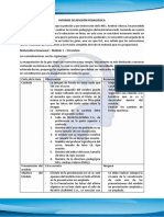 Informe de Revisión Pedagógica