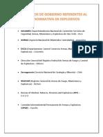 2organismos de Gobierno Referentes Al Uso y Normativa de Explosivos