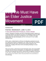 Elder Abuse and Justice Movement
