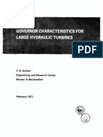 Governor Characteristics for Large Hydraulic Turbines - f. r. Schleif