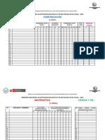 Registro Auxiliar - 3 Años 2015