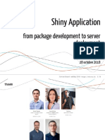Shiny Application - from package development to server deployment