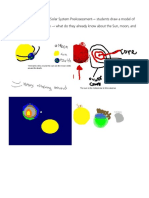 examples of student work  solar system preassessment