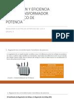 Regulación y Eficiencia de Los Transformadores de Potencia