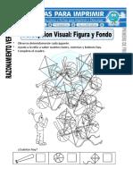 Ficha de Figura y Fondo Para Primero de Primaria