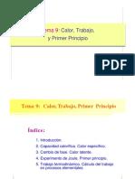 Tema 9 Calor Trabajo y Primer Principio
