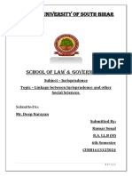 linkage between Jurisprudence and other social sciences