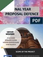 Proposal Defence
