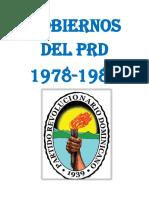 Gobiernos Del Prd 1978-1986