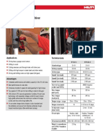 Hilti Sfh 22 a Specification Sheet