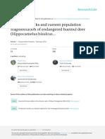 Past Bottlenecks and Current Population Fragmentat