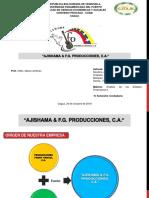 Diapositiva de Ajishama & f.g. Producciones, c.a. (Análisis de Los Estados Finanacieros II)