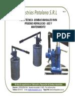 Tarjeta Manual p -Hidrulica