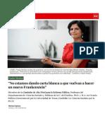 """La República - Entrevista a Paula Muñoz """"No estamos dando carta blanca a que vuelvan a hacer un nuevo Frankenstein"""""""