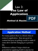 Wilkinson 7 Laws Learner Law 3_b Application Maximisers