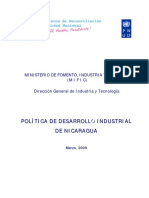 Política de Desarrollo Industrial de Nicaragua 03-2009