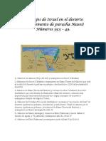 Los viajes de Israel en el desierto  (Complemento de parasha Masei)  Números 33:3 – 49.