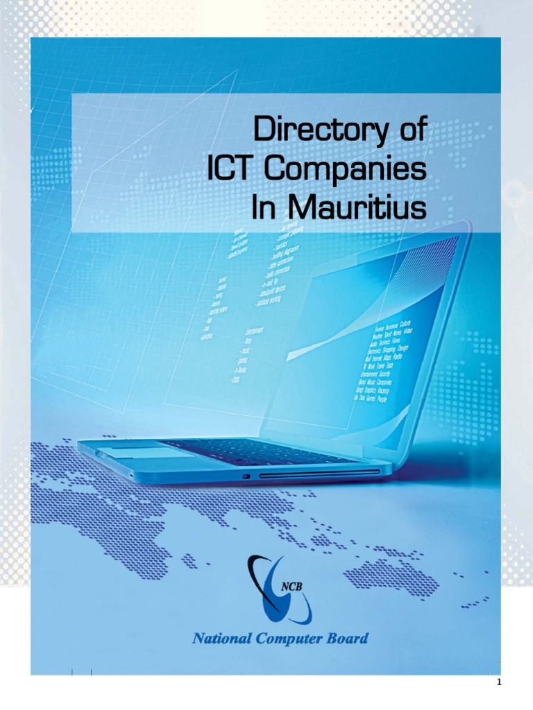 NCB - ICT Directory of Mauritius pdf | E Government | Information
