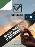 Checklist Da Ideia Para o Desenho