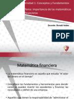 1. Inmportancia de La Matemáticas Financiera