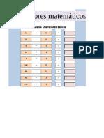 Práctica 05 Operadores Matemáticos