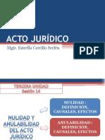 Nulidad y anulabilidad del acto juridico