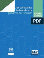 CEPAL_Brechas de Infraestructura en Tucumán