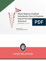 Efficacy of Helicobacter Pylori Eradication Regimens in Rwanda