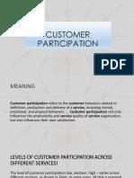 Customer Participation