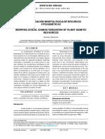 Caracterización Morfológica de Recursos Fitogenéticos