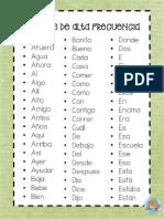 palabras en castellano