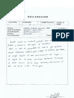 Declaración Natalia Gallardo