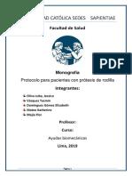 Monografia Artrosis de Rodilla