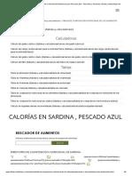 Calorías en Sardina, Tabla e Información Nutricional Para Pescado Azul - Pescados y Derivados _ Dietas _ Www.dietas.net