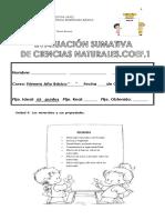 Evaluacion Sumativa Ciencias Naturales Unidad 4...2015