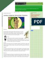 Macuxi Unb Blogspot Com 2016 07 Lendas Macuxis HTML