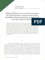 mapas literarios en la narrativa completa de Carlos Funetes