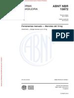 NBR 15872 - Ferramentas Manuais Marretas