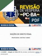 Noções de Direito Penal - Revisão de Vespera Pc-ba