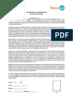 Declaraciones y Autorizaciones Proceso Seleccion