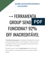 → GROUP SENDER Fernando Augusto 2019 | 92% OFF INACREDITÁVEL HOJE!