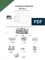 Guía de Lenguaje y Comunicación 1 Letra m