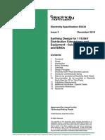 Earthing Design for 11/6.6kV  Distribution Substations and  Equipment