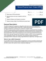 General Purpose Input Output (GPIO)