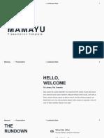 Hmamayu Minimal Powerpoint Template
