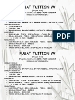 Pusat Tuition Vv