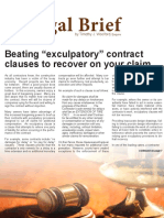 Beating Exculpatory Contract Clauses