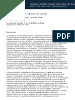 Buzan y Little. (Traduc) La Expansión Histórica de La Sociedad Internacional