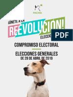 Pacma Compromisos Elecciones Generales 2019