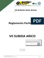 Reglamento Subida Arico 182